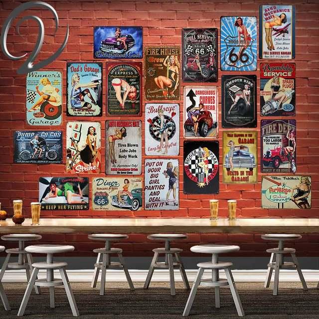 Sexy Fille Affiche Signe En Metal Pour Bar Pub Decoration Enseignes