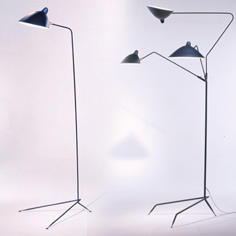 Serge mouille 3 arms claws led floor lamp iron floor Serge mouille three arm floor lamp