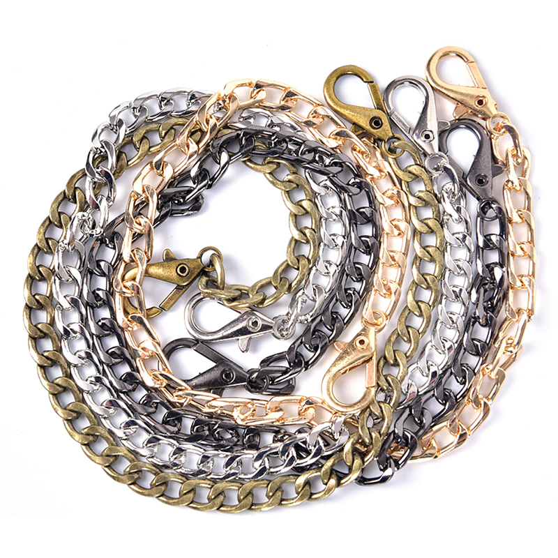 1PCS Fashion Metal Long 40cm Strap Chain For Shoulder Cross Body Bag Handbag Purse Strap Accessories 4 Colors