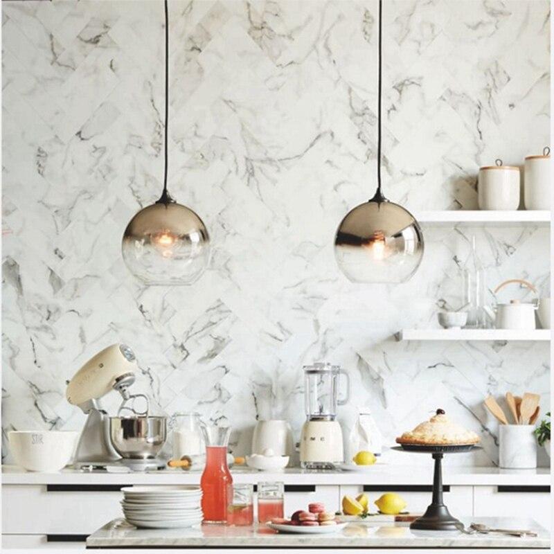 Современный подвеска на зеркало светло-золотой стеклянный шар Лофт подвесной светильник Hanglamp гостиная прикроватная Подвесная лампа свети...