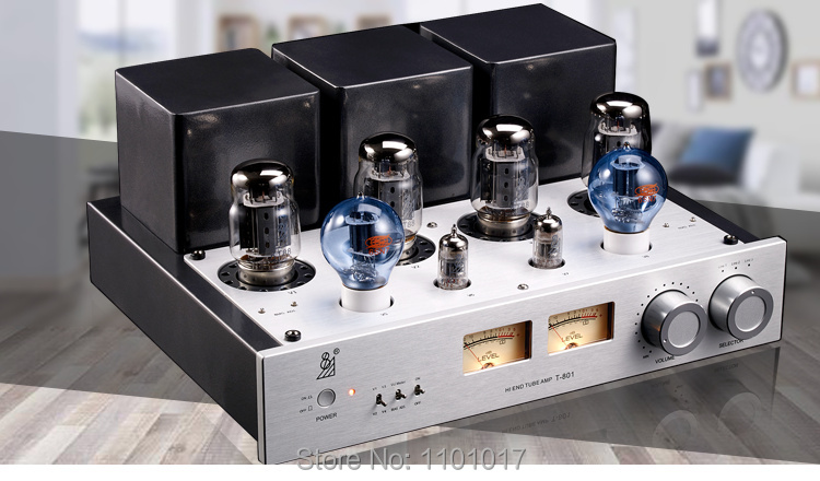 HIFI EXQUIS T8801 KT88 Push-Pull Tube Amplifier 50Wx2 6SN7 12ax7 Preamp Tube muzishare x7 hifi push pull kt88 vacuum tube integrated amplifier phono preamp