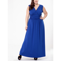 Plus Size Party Dress Woman 4xl 5xl 6xl Big Size Maxi Vestidos 2018 Summer Sexy V