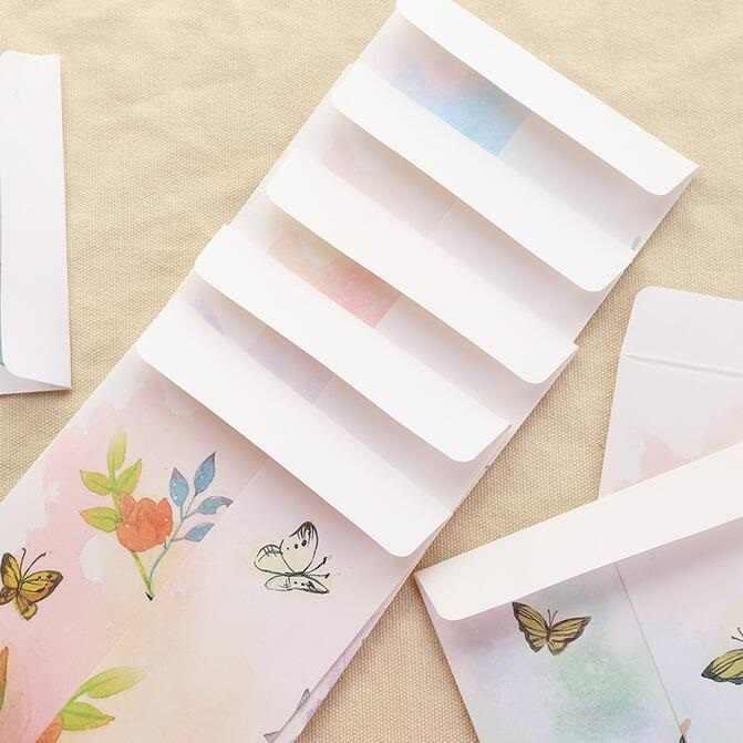 5 шт./партия, винтажный цветочный бумажный конверт с оленем, красный конверт, забавная Подарочная сумка для студентов, офисные школьные канцелярские принадлежности 215*110 мм