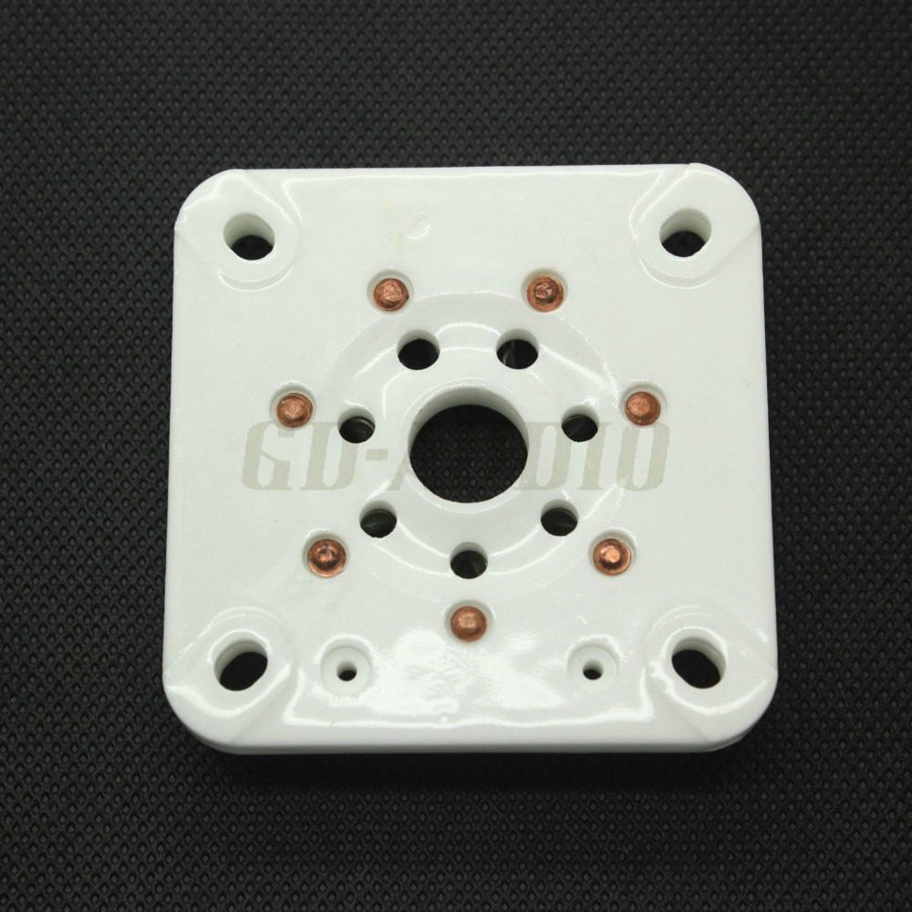 10PCS U7G 7pin Ceramic vacuum tube socket for 813 FU 13 4B27 5 125B 8001 Vintage