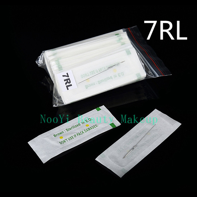 Free Shipping 100Pcs 7R Traditional Tattoo Needles For Eyebrow Lips Makeup Machine Hot Sale