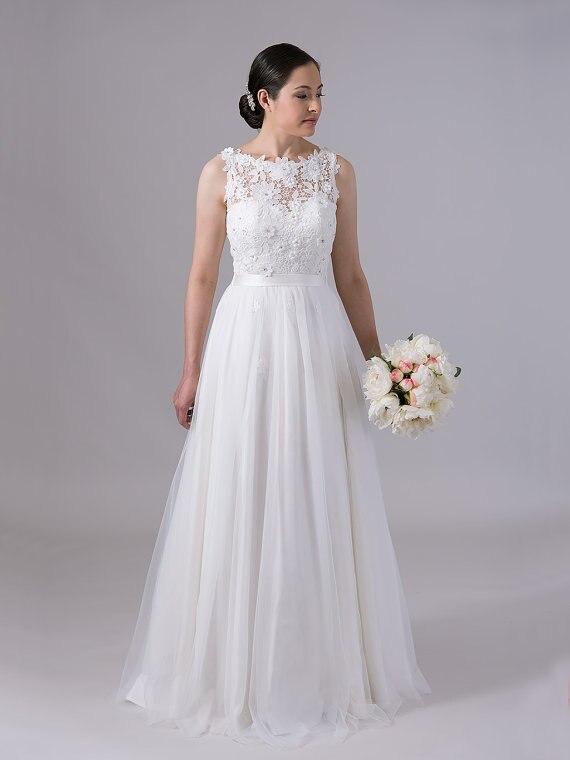 Фото свадебное платье без рукав