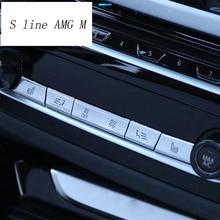 Стайлинга автомобилей Кондиционер CD Панель декоративные кнопки украшения крышки наклейки для BMW X3 G01 X4 интерьер авто аксессуары