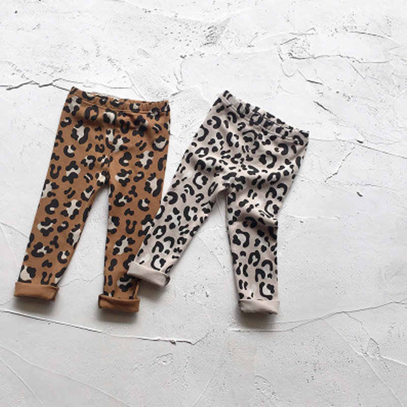 2019 printemps enfant en bas âge fille Leggings enfants mode Long Skinny léopard imprimé pantalon enfants vêtements fille Slim Leggings pour 2-7Yrs