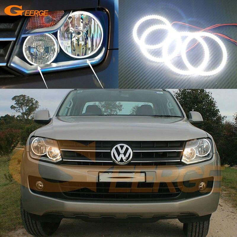 Для Volkswagen Фольксваген Амарок 2011 2012 2013 2014 фара отлично вел глаза Ангела Ультра яркий SMD из светодиодов глаза Ангела гало кольцо комплект