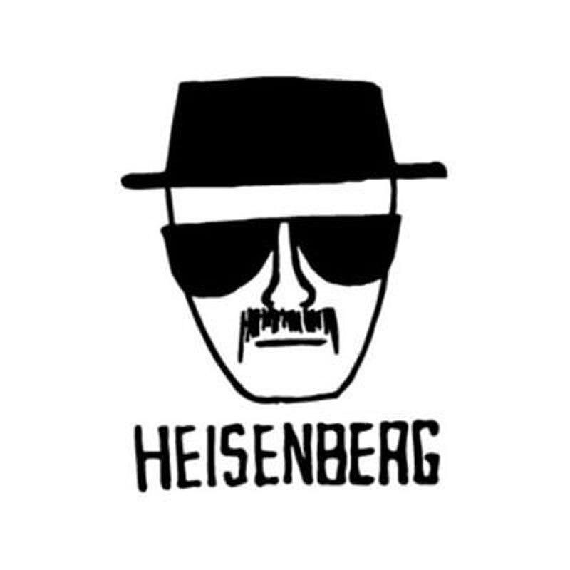 11.7cm*15cm Cartoon Fun HEISENBERG Vinyl Car Window Decal Car Sticker Black/Silver S6-3761