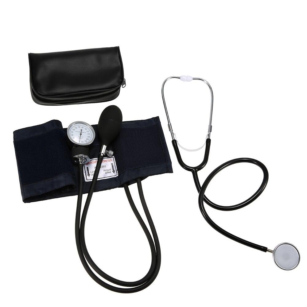 Kit de manómetro esfigmomanómetro de presión arterial de brazo superior estetoscopio de presión arterial con bolsa de cremallera para el cuidado de la salud de adultos