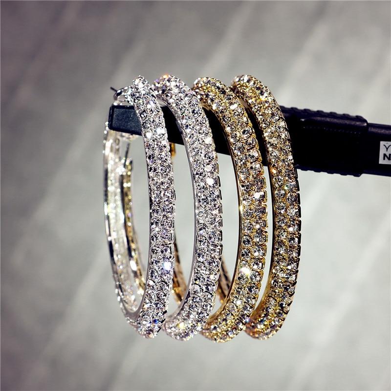 Hotsale new multi layer cubic zircon micro paved full CZ hoop earrings for women Korean jewelry