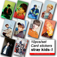 10pcs/set Stray kids KPOP photo cards stickers album sticky adshesive kpop Stray kids lomo card photocard sticker SKD00601 все цены