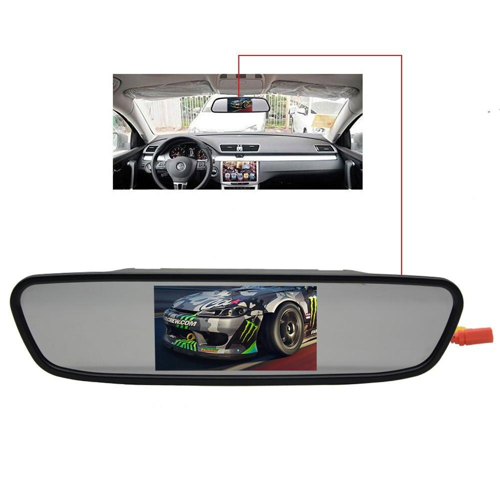 4.3 Inch LCD Auto 16:9 image 2 video input ports Digital panel Suitable for camera/DVD/VCD player Monitor for rear view camera