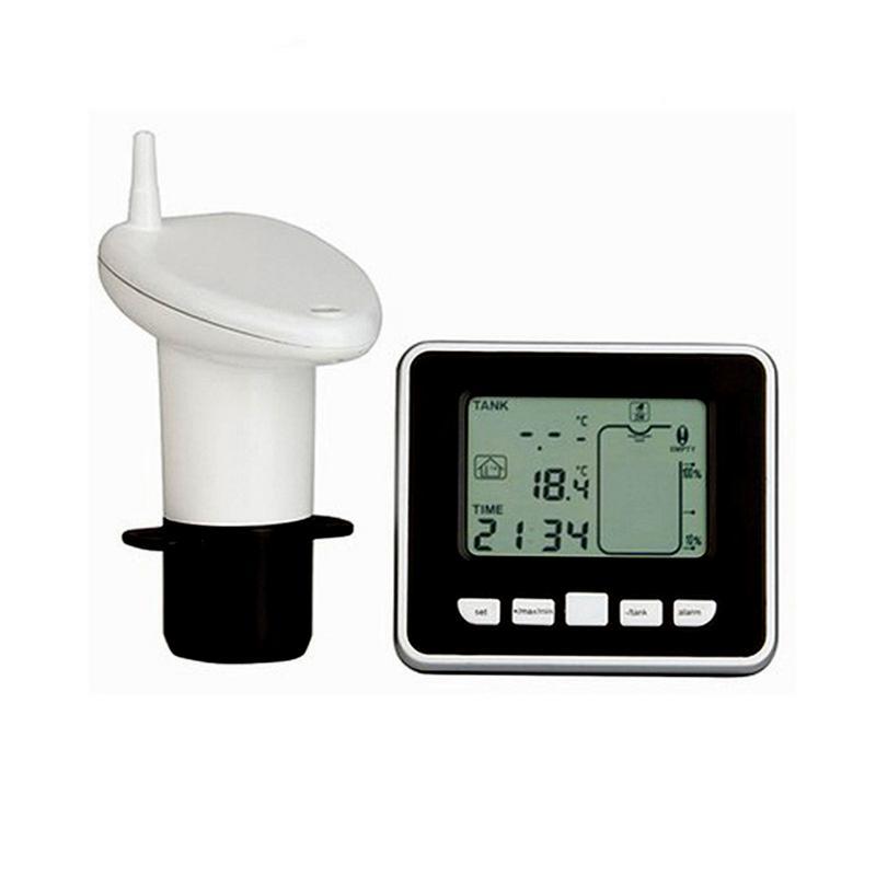 Compteur de niveau de profondeur de liquide de réservoir à ultrasons sans fil avec capteur thermique de température jauge de niveau d'eau