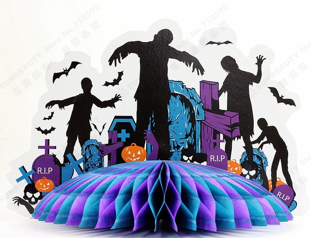 zombie party 3d zombie centerpiece table decor haunted house haunted castle centerpiece spooky house halloween centerpiece - Halloween Centerpiece
