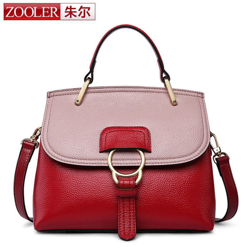 ZOOLER 100% Genuine Leather Women Bag Ring Fashion Women Famous Brands Designer Handbag High Quality Shell Female Shoulder Bags lafestin luxury shoulder women handbag genuine leather bag 2017 fashion designer totes bags brands women bag bolsa female