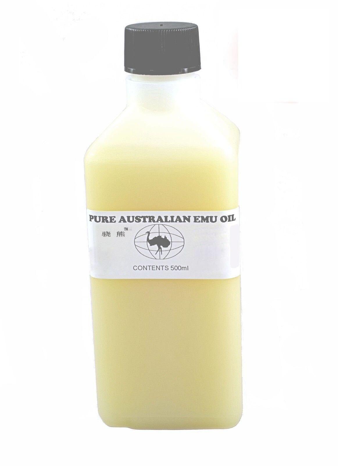 Nouvelle huile d'émeu australienne 500 ml 100% Pure parfaite pour la peau/cheveux/muscles/articulations livraison gratuite