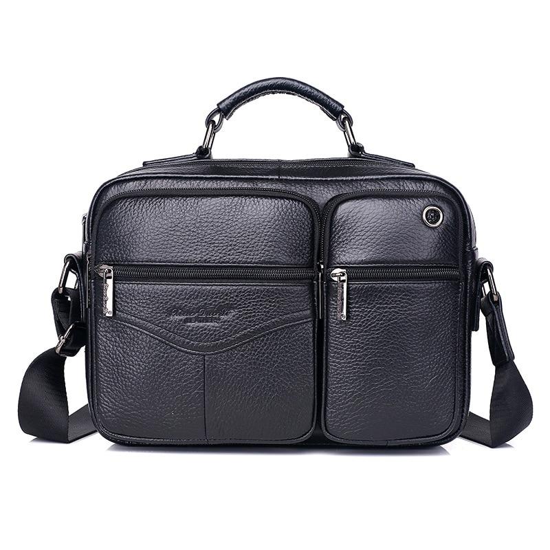 Genuine Leather Shoulder Bag Men's Messenger Bags For Men Business Handbags Briefcase Male Fashion Crossbody Bags iPad Bags цена 2017