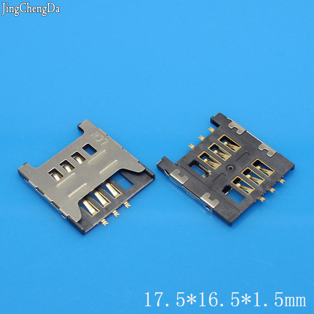 JCD Sim Card Socket Slot Holder Tray Replacement Parts For Samsung GT E1200M E1200 I519 I939D I939i S6810 S6812