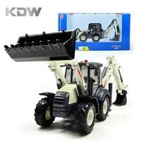 KDW Truck Alloy Cars Models Metal Back Hoe Loader Backhoe Toy Engineering Vehicles Kaidiwei Alloy Excavator