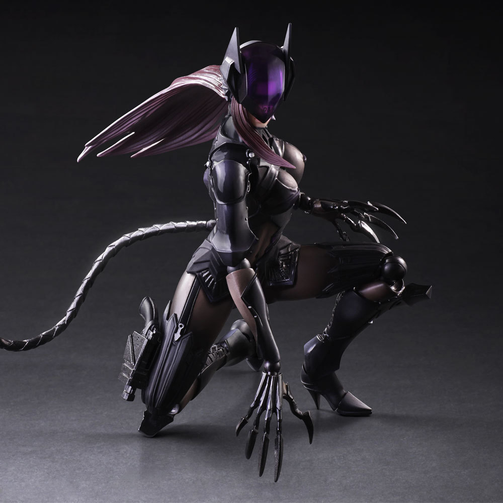 Playarts KAI Batman VS. Catwoman Selina Kyle 1/7 Scale Painted PVC Action Figure Collectible Model Toy 25cm KT2152 playarts kai batman arkham knight batman blue limited ver superhero pvc action figure collectible model boy s favorite toy 28cm