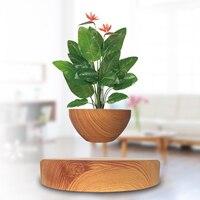Creative Magnetic Levitation Air Bonsai Art Potted Plant Ornaments Suspension Flower Pot Geomancy Ornament With US Plug No Plant