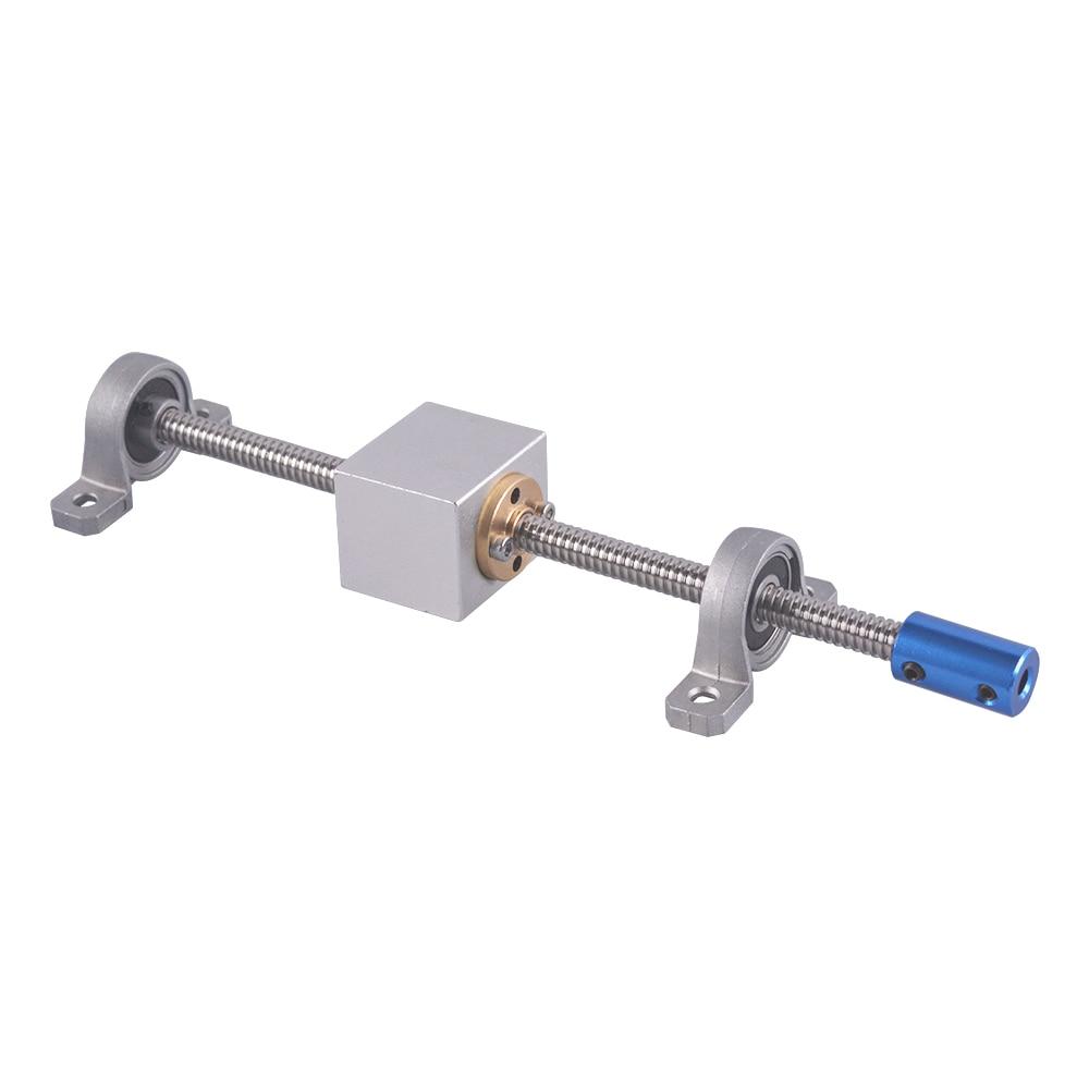3D Printer Guide Rail Parts-T8 Lead Screw 20/25/30/35/40/45/50cm Vertical 2mm Lead Screw Rod KP08 Bracket /Coupler/Nut Seat3D Printer Guide Rail Parts-T8 Lead Screw 20/25/30/35/40/45/50cm Vertical 2mm Lead Screw Rod KP08 Bracket /Coupler/Nut Seat