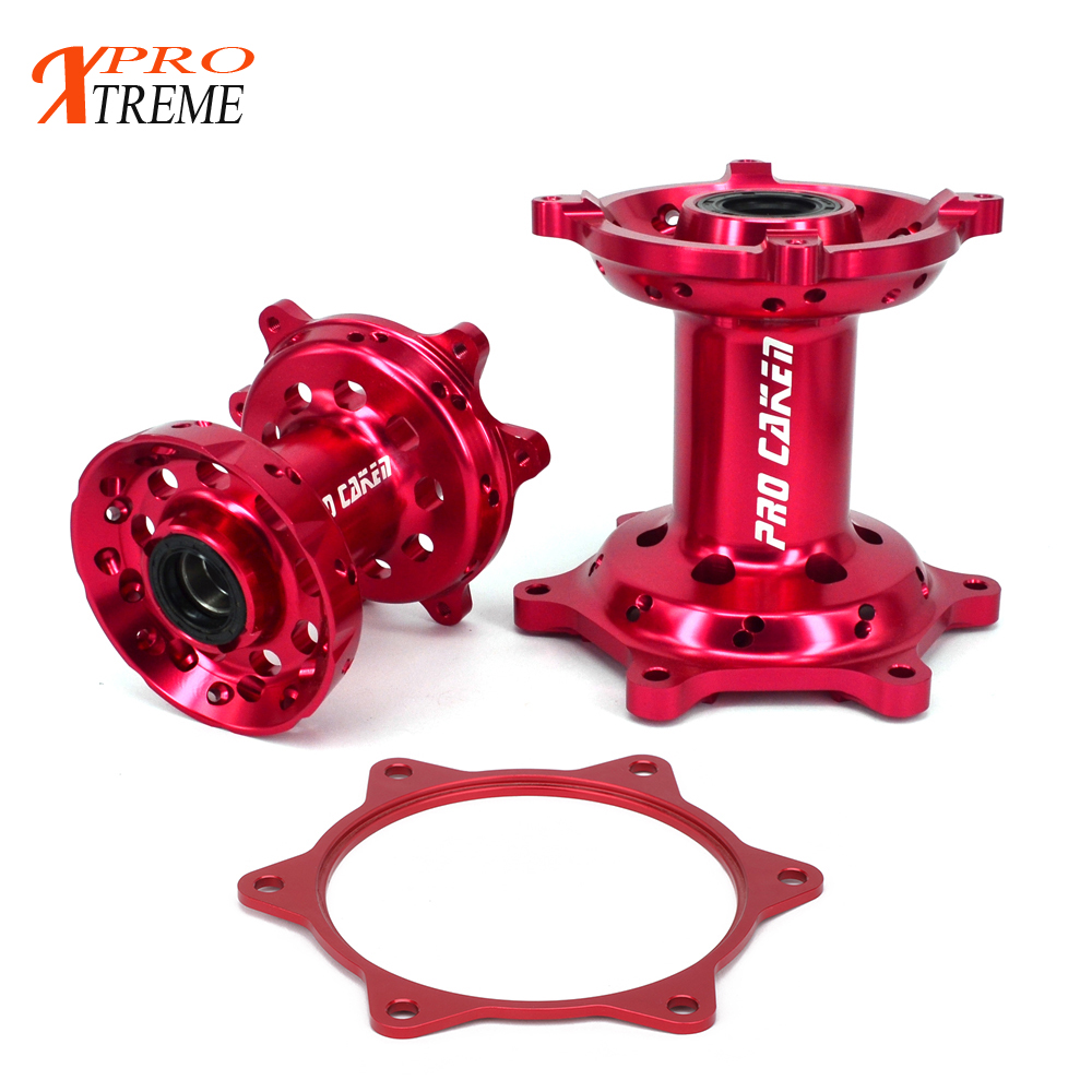 Motorcycle Front & Rear Wheel Hubs Sprocket For HONDA CRF450R CRF 450R 2013-2016 CRF250R CRF-250R 2014 2015 2016 for honda crf 250r 450r 2004 2006 crf 250x 450x 2004 2015 red motorcycle dirt bike off road cnc pivot brake clutch lever