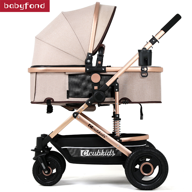 2018 Baby stroller baby car light folding four-wheel shock absorbers baby trolleys baby stroller baby stroller shock absorbers light folding stroller 4runner