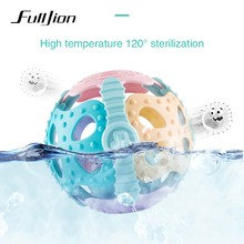 Fulljion Baby Teether Toys Ball Toddler Toys Rattles Mobiles Bebe Stroller Funny Soft Educational Infant Handbell Christmas Crib(China)