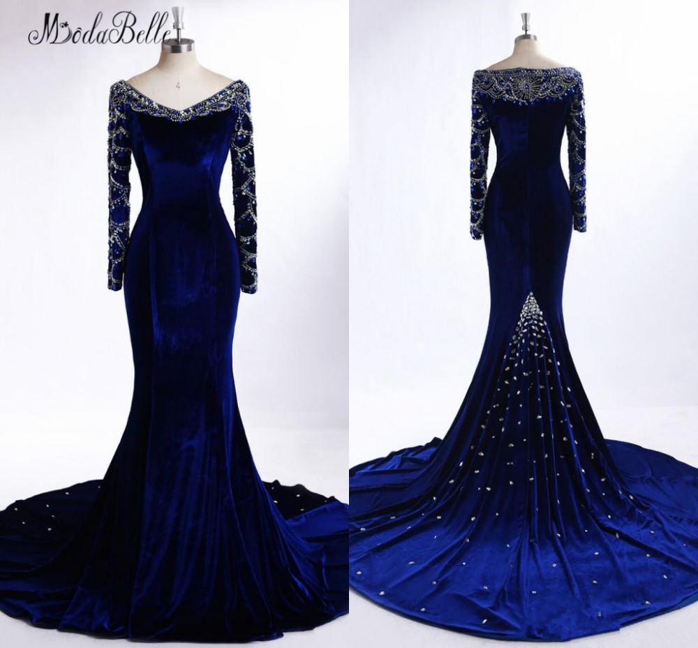 US $16.16 216% OFFmodabelle Royal Blue Mermaid Muslim Evening Dress  Meerjungfrau Kleid Mother Of The Bride Dresses Robes De Soiree  LongueEvening