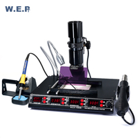 WEP 1000B Infrared Preheating Plate BGA Rework Station Hot Air Gun Soldering Station Mutifunctional Tool