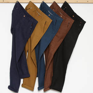 Male Pant Trousers Business-Pants Plus-Size Cotton Fashion Slim Straight Casual 40 Men