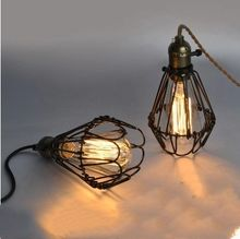 Vintage lighting chandelier Edison Retro Pendant Lamp Holder With Wire AC 110-220V Chandelier E27(China)