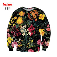 Sondirane Newest Sweatshirts 3D Print Floral Graphics Hoodies Long Sleeve Pullover Sweat Tops Flower Fashion Tracksuit