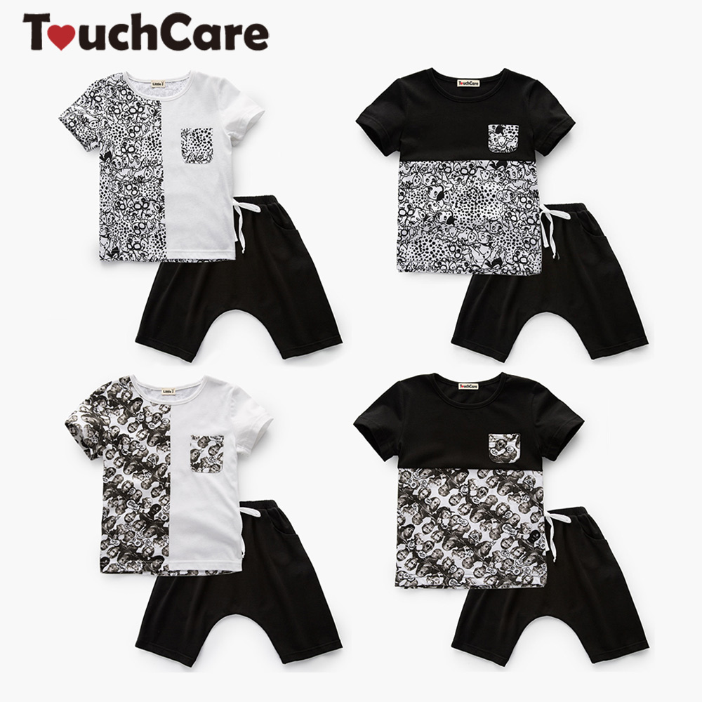 Designed Newborn Baby Boy Clothing Summer Toddler Clothes Set Short Sleeve T