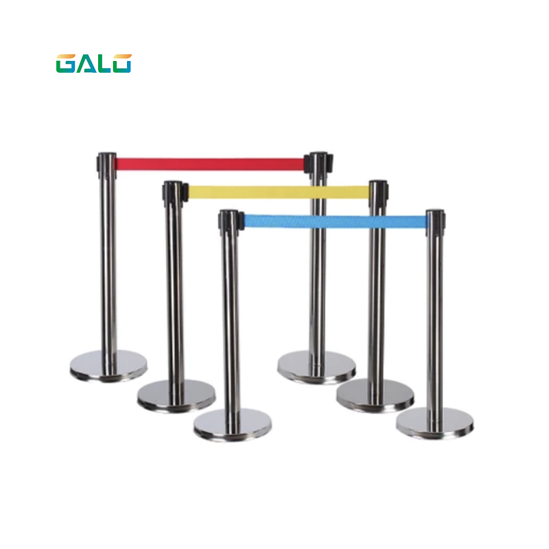 Stainless steel fence/Security cordon/1.8m belt length Pillared retractable belt barrier for separated region max 5m belt lengthe wall amoutn barrier stanchions retractable betl for area separation