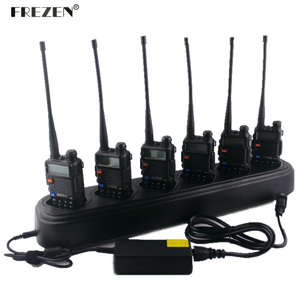 Nieuwe single-rij zesweg universele snellader voor Baofeng UV-5R - Walkie-talkies
