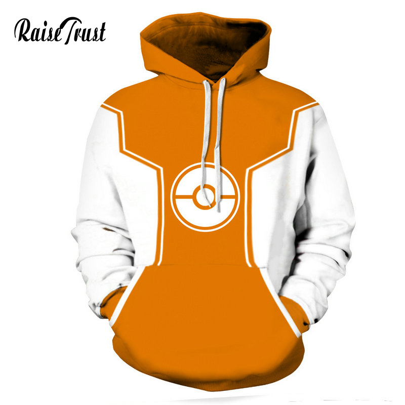 Raise Trust  Pullover Sweatshirt For Men Women Fashion 3d Print Pokemon Harajuku  Jacket Large Size Couple Street Wear Hoodies