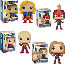 FUNKO POP New Movie Avengers 4: Endgame Marvel Captain & Supergirl PVC Action Figure Collection Model Toys For Children Gift(China)