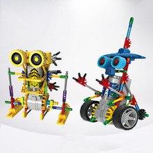 Electric Block Robot Dinosaur Series Children Toys Manual DIY Blocks