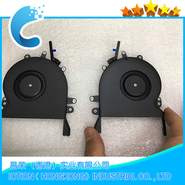 Original New A1707 CPU Cooler Cooling Fan for Macbook Pro Retina 15 A1707 Fan Left + Right Side Fan Set Late 2016 2017 image