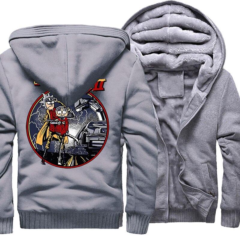 New Fashion Streetwear Hoody 2018 Autumn Winter Brand Clothes Sweatshirt RICK AND MORTY Hip Hop Men's Hoodies Zipper Coat Hoodie