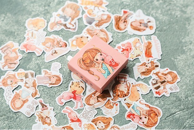 40PCS-box-Color-Cute-Marble-Paper-Sticker-Decoration-Decal-DIY-Album-Scrapbooking-Seal-Sticker-Stationery-Gift(15)