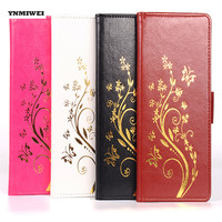 YNMIWEI For Asus Zenfone 3 Zoom ZE553KL Phone Case Gold Stamping Flip Leather Cover For Zenfone