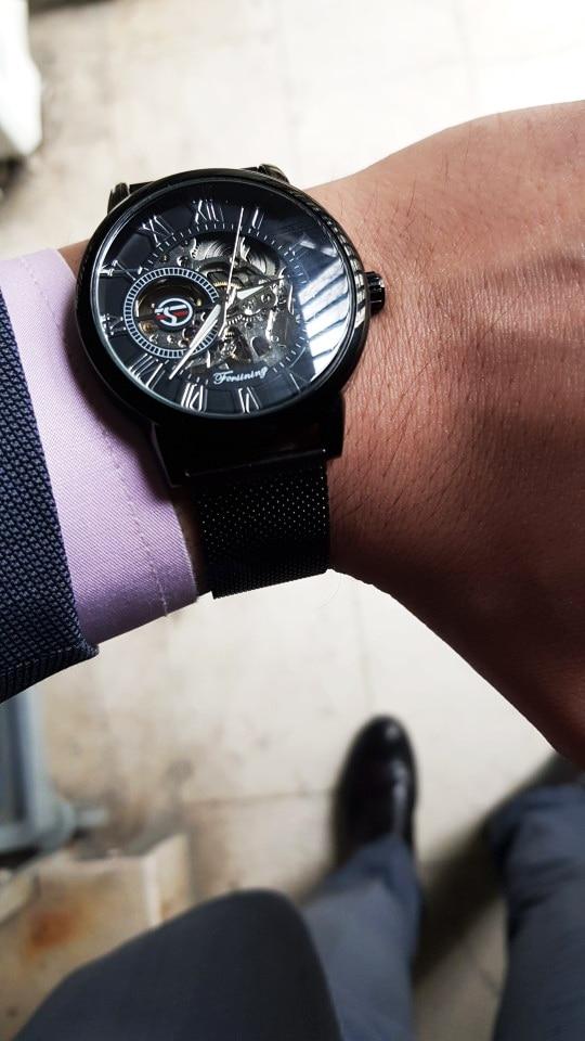 HTB1ucEOaLWG3KVjSZPcq6zkbXXar Forsining Retro Fashion Design Skeleton Sport Mechanical Watch Luminous Hands Transparent Mesh Bracelet For Men Top Brand Luxury