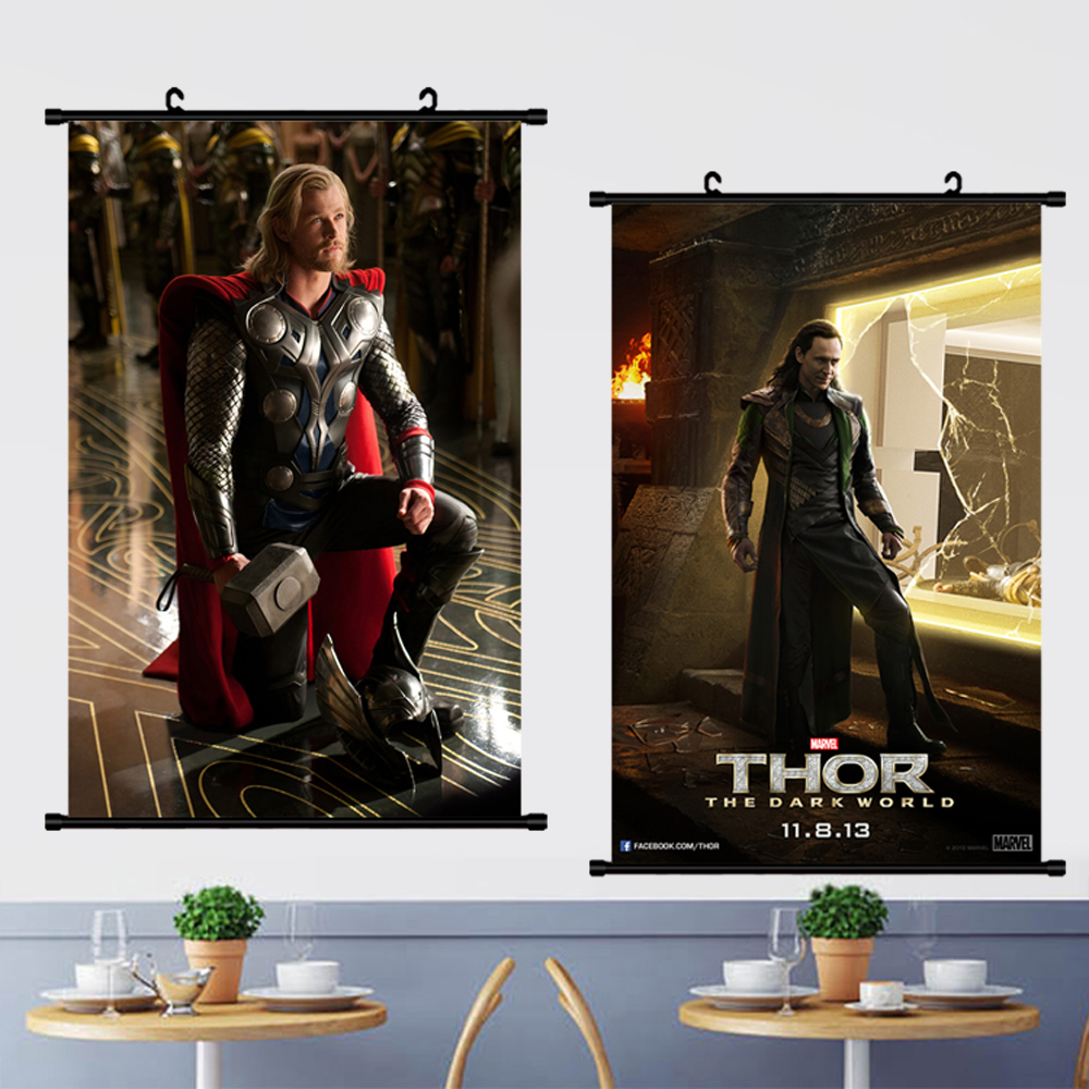 Loki Poster Avengers Thor Movie Marvel Canvas Painting Wall Art Posters Picture Scroll