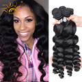 8A Unprocessed Virgin Hair Peruvian Loose Wave 3pcs Peruvian Loose Wave Virgin Remy Hair Bundles Peruvian Virgin Hair Loose Wave