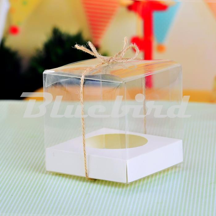 Clear Pvc Transparent Cupcake Boxes Wedding Gift Box With